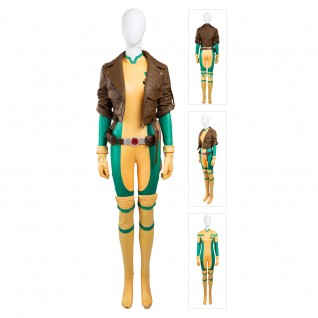 Anna Marie Costume X-Men Rogue Cosplay Suits Deluxe Version