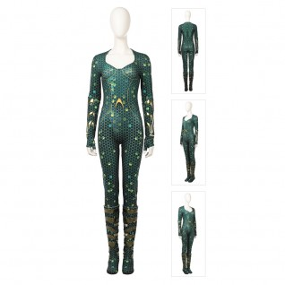 Aquaman Mera Jumpsuit Zentai Cosplay Costumes