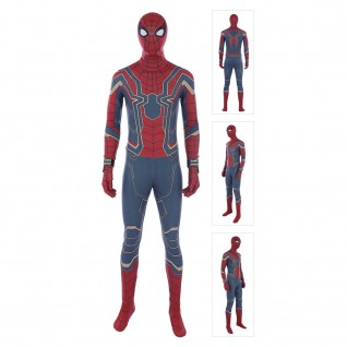 Spider Man Peter Parker Cosplay Costume The Avengers Infinity War Iron Spiderman Suits