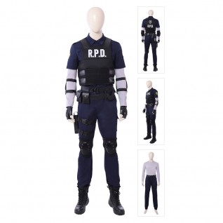 Resident Evil 2 Remake Leon Scott Kennedy RPD Cosplay Costume Outfit