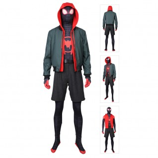 Miles Morales Costume Spider-Man Into the Spider-Verse Cosplay Suit