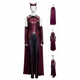 Wanda Maximoff Costume 2021 New Scarlet Witch Cosplay Suits Upgraded Version