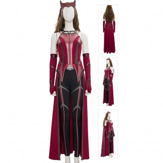 Wanda Maximoff Costume 2021 New Scarlet Witch Cosplay Suits Knit Edition