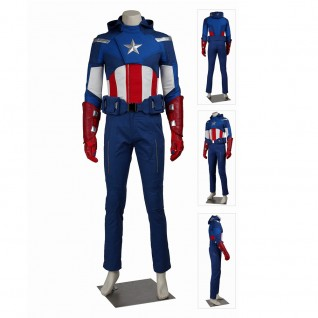 The Avengers 1 Cosplay Suits Steve Rogers Captain America Costume