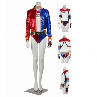 Suicide Squad Harley Quinn Cosplay Costumes Full Set