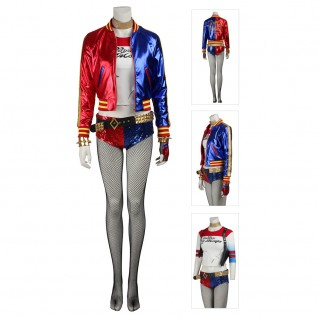 Suicide Squad Harley Quinn Cosplay Costumes Full Set Deluxe Edition