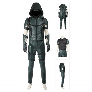 Oliver The Season 4 Green Arrow Improved Version Cosplay Costume Suits