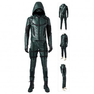 Oliver The Season 5 Green Arrow Cosplay Costume Suits Improved Version