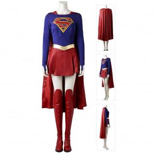 Supergirl Cosplay Costume Female SuperHero Cosplay Suit