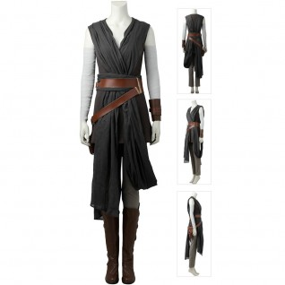 Star Wars 8 The Last Jedi Rey Cosplay Costumes Improved Version