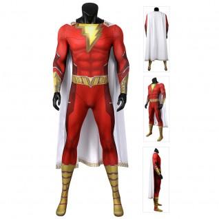 Billy Batson Captain Marvel Costume Shazam Cosplay Costumes
