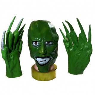 Jim Carrey Latex Material Gloves Comedy Movie The Mask Cosplay Gloves