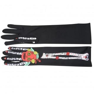 Halloween Cosplay Props Mid-length Skull Gloves