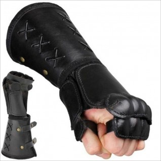 European Medieval Warrior Fighting Leather Wrist Boxing Gloves