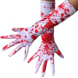 Halloween Horror Cosplay Gloves Blood Drop Gloves