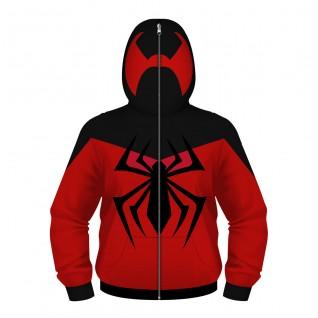 Kids Spider-Man Hoodie 3D Printed Pattern Zip Up Long Sleeve Sweatshirt