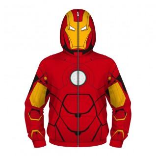 Kids Iron Man Zip Up Hoodie