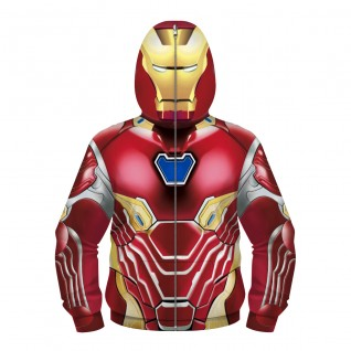 Kids Iron Man Hoodie Zip Up Hoodies 3D Printed Pattern Long Sleeve Sweatshirt