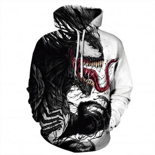3D Print Pattern Venom Long Sleeve Hoodies