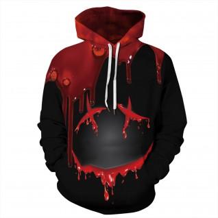 Drop Blood Hoodie 3D Print Pattern Long Sleeve Sweatshirt
