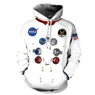Nasa Astronaut Hoodie 3D Print Long Sleeve Fashion Sweatshirt