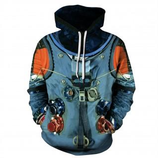 Nasa Astronaut Hoodie New NASA Pattern Long Sleeve Sweatshirt