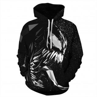Black Venom Long Sleeeve Hoodies