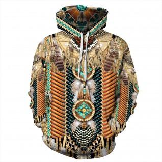 American Indian Fashion Long Sleeve Hoodie
