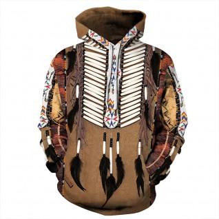 American Indian Hoodie Tribal Style Long Sleeve Sweatshirt