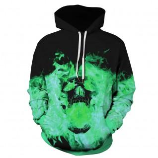 Halloween Daily Going Out Sweatshirt Skull Pattern Long Sleeve Hoodie