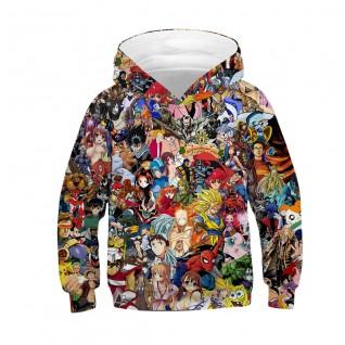 Kids Anime Hoodie 3D Printed Pattern Long Sleeve Sweatshirt