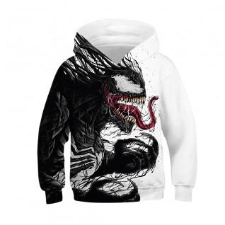 Kids Venom Hoodie 3D Print Pattern Long Sleeve Hoodies
