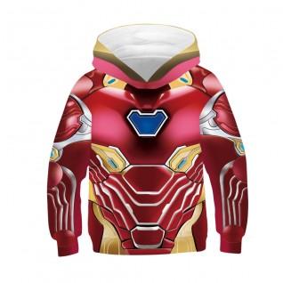 Kids Iron Man Hoodie 3D Printed Pattern Long Sleeve Sweatshirt