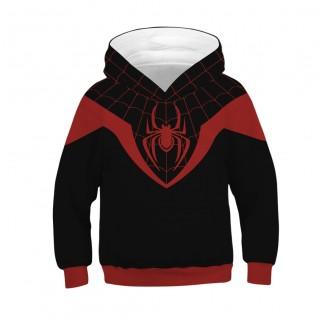 Kids Miles Morales Hoodie Spiderman Pattern Long Sleeve Sweatshirt