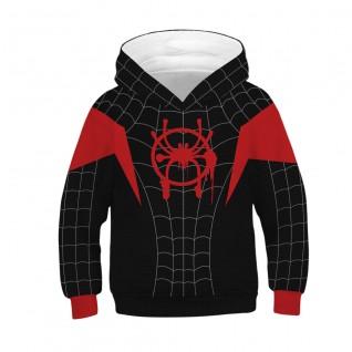 Kids Spiderman Miles Morales Hoodie Spider-Man Into the Spider-Verse Sweatshirt