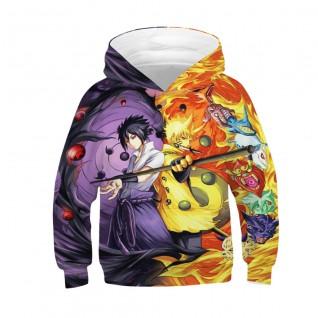 Kids Anime Pattern Hoodie 3D Printed Long Sleeve Sweatshirt