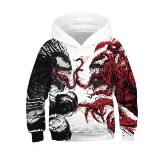 Kids Venom Hoodie 3D Printed Pattern Fashion Sweatshirt