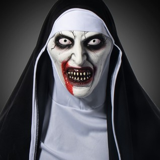 2021 New Halloween Horror Helmet Nun Mask