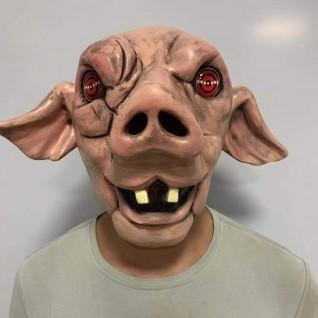 Halloween Horror Helmet Chainsaw Horror 9 Swirl Pig Head Mask