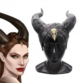 Halloween Maleficent 2 Horror Helmet Sleeping Beauty Horn Mask