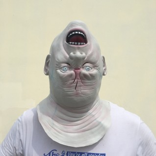Halloween Horror Helmet Upside Down Alien Mask