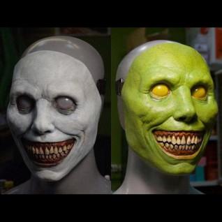 2021 Halloween Horror Helmet Exorcist Smile White Mask