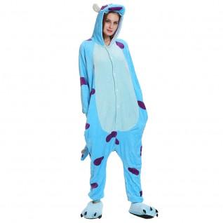 Blue Bull Kigurumi Animal Onesie Pajama Costumes for Adult
