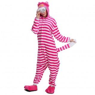 Cheshire Cat Kigurumi Animal Onesie Pajama Costumes for Adult