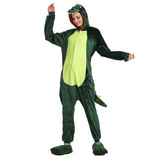 Green Dinosaur Kigurumi Animal Onesie Pajama Costumes for Adult