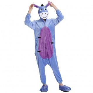 Eeyore Donkey Kigurumi Animal Onesie Pajama Costumes for Adult