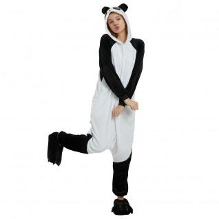 Black White Kung Fu Panda Kigurumi Animal Onesie Pajama Costumes for Adult