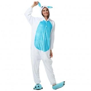 Blue Rabbit Kigurumi Onesies Pajamas Animal Onesies for Adult