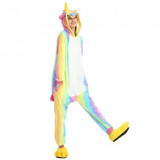 Colorful Unicorn Kigurumi Onesies Pajamas Animal Onesies for Adult