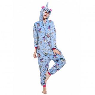 Blue Zipper Unicorn Onesie Pajamas Animal Onesies for Adult